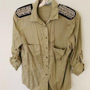 Zara Military Blouse